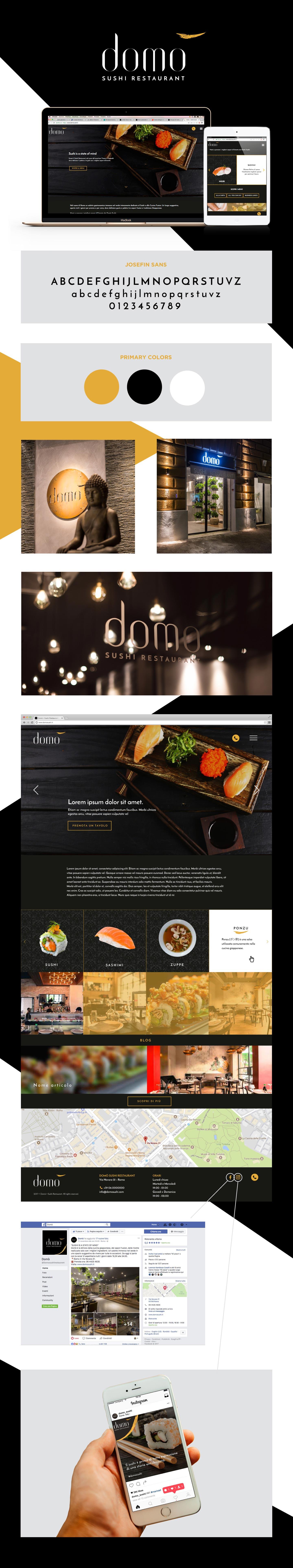 Umana Creative Studio - Progetto per Domò Sushi Restaurant Roma